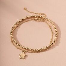 2pcs Star Decor Bracelet