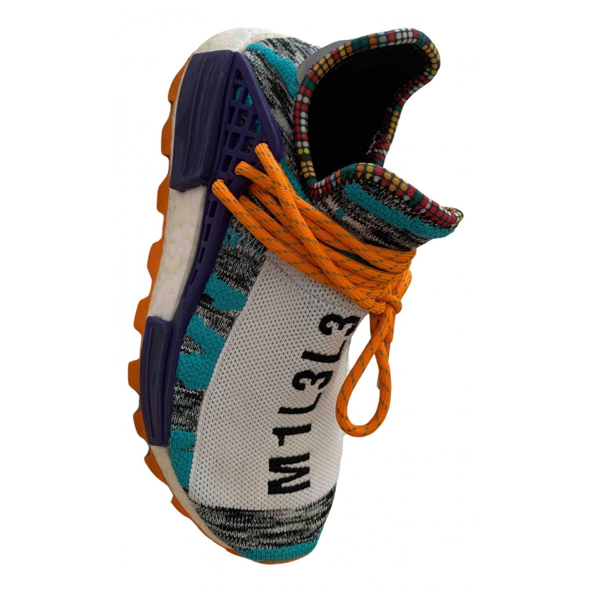 Adidas X Pharrell Williams NMD Hu Sneakers in  Bunt Leinen
