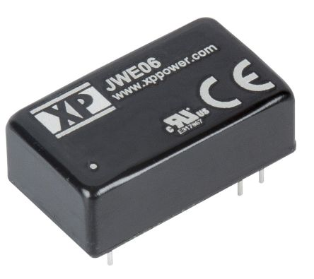 XP Power JWE06 6W Isolated DC-DC Converter Through Hole, Voltage in 9 → 36 V dc, Voltage out 3.3V dc