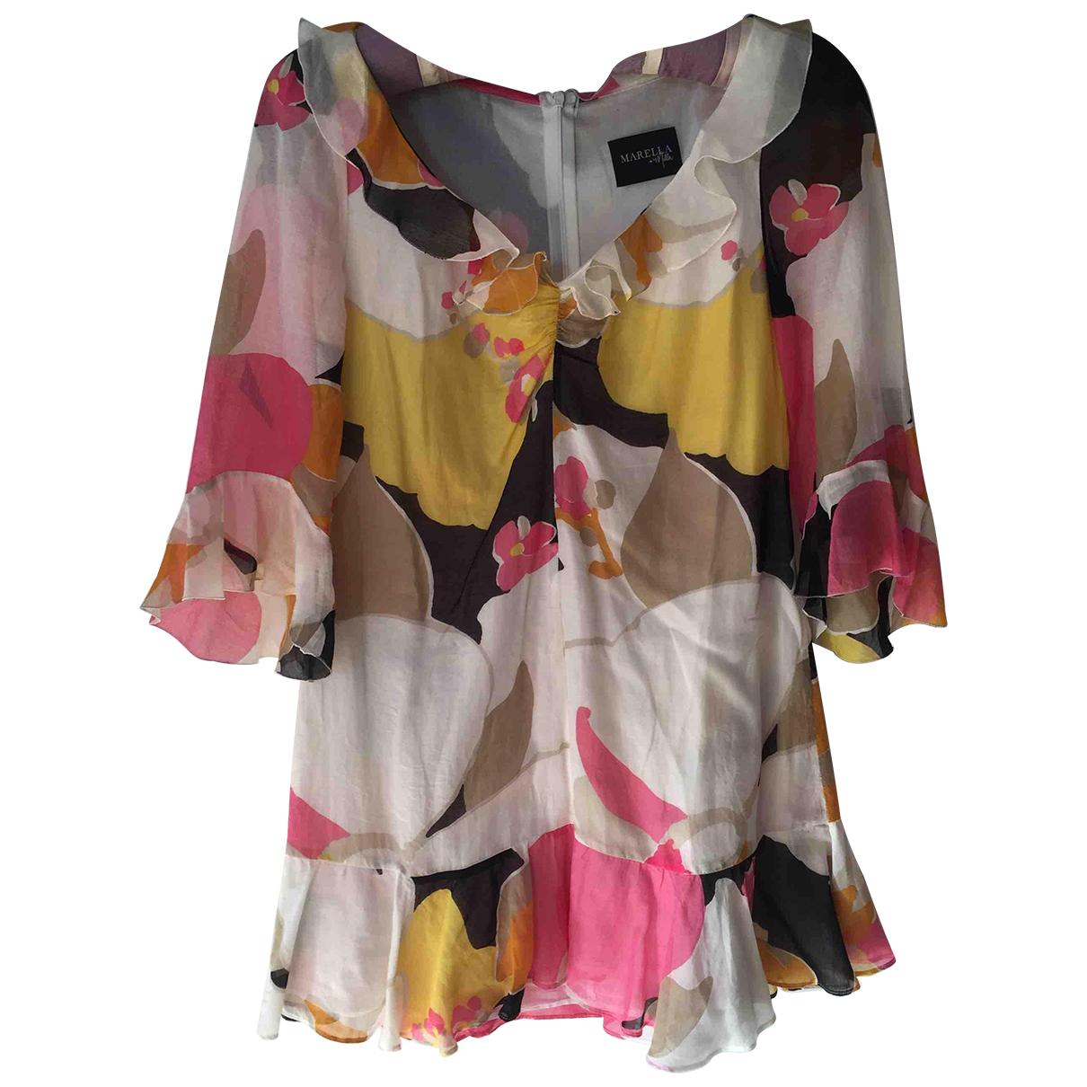 Marella N White Silk dress for Women 36 FR