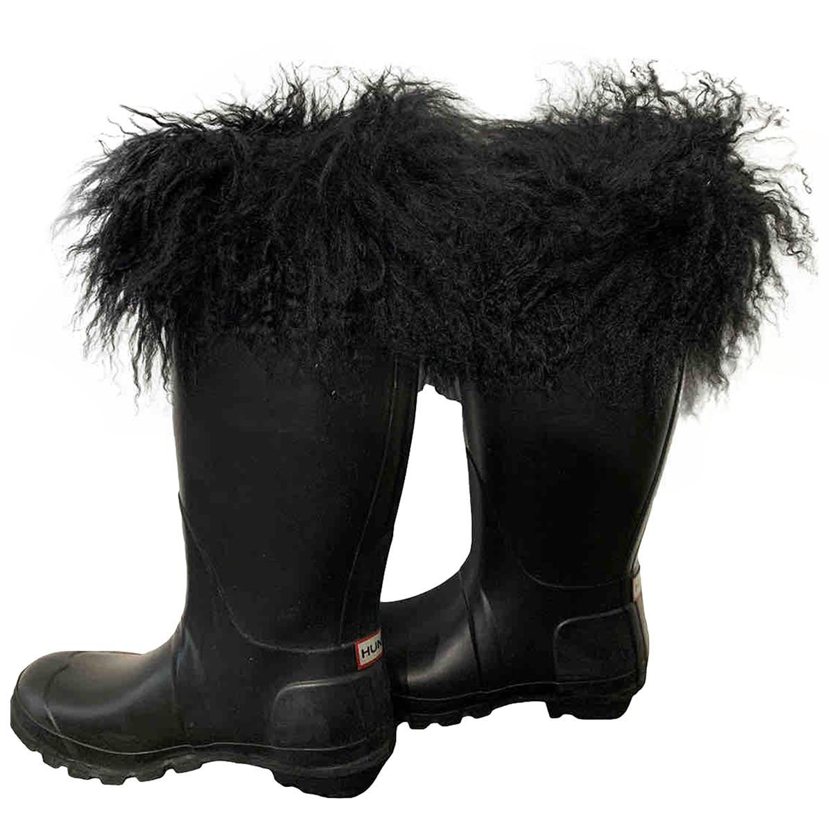 Hunter - Bottes   pour femme en agneau de mongolie - noir