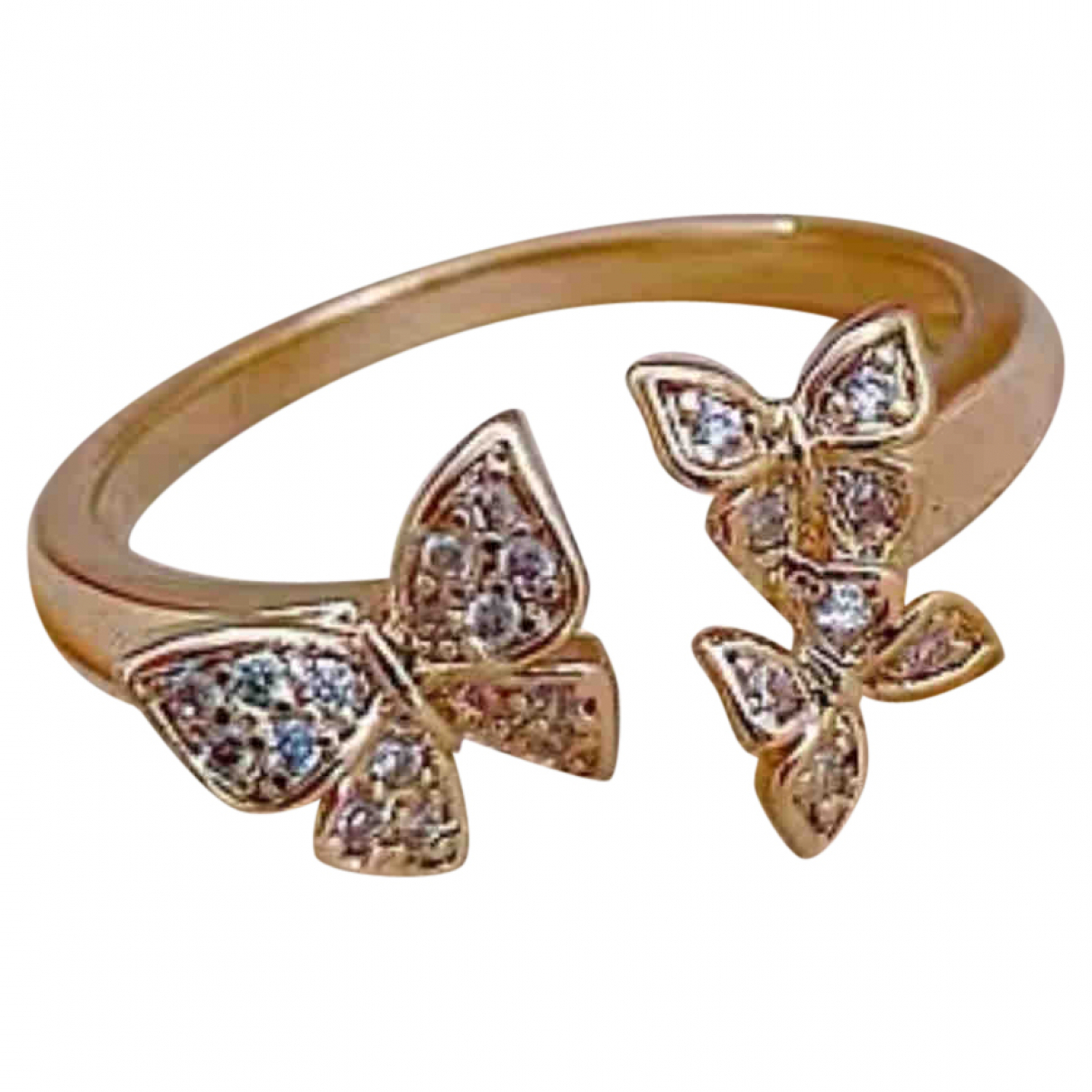 Non Signe / Unsigned Motifs Animaliers Ring in  Gold Vergoldet