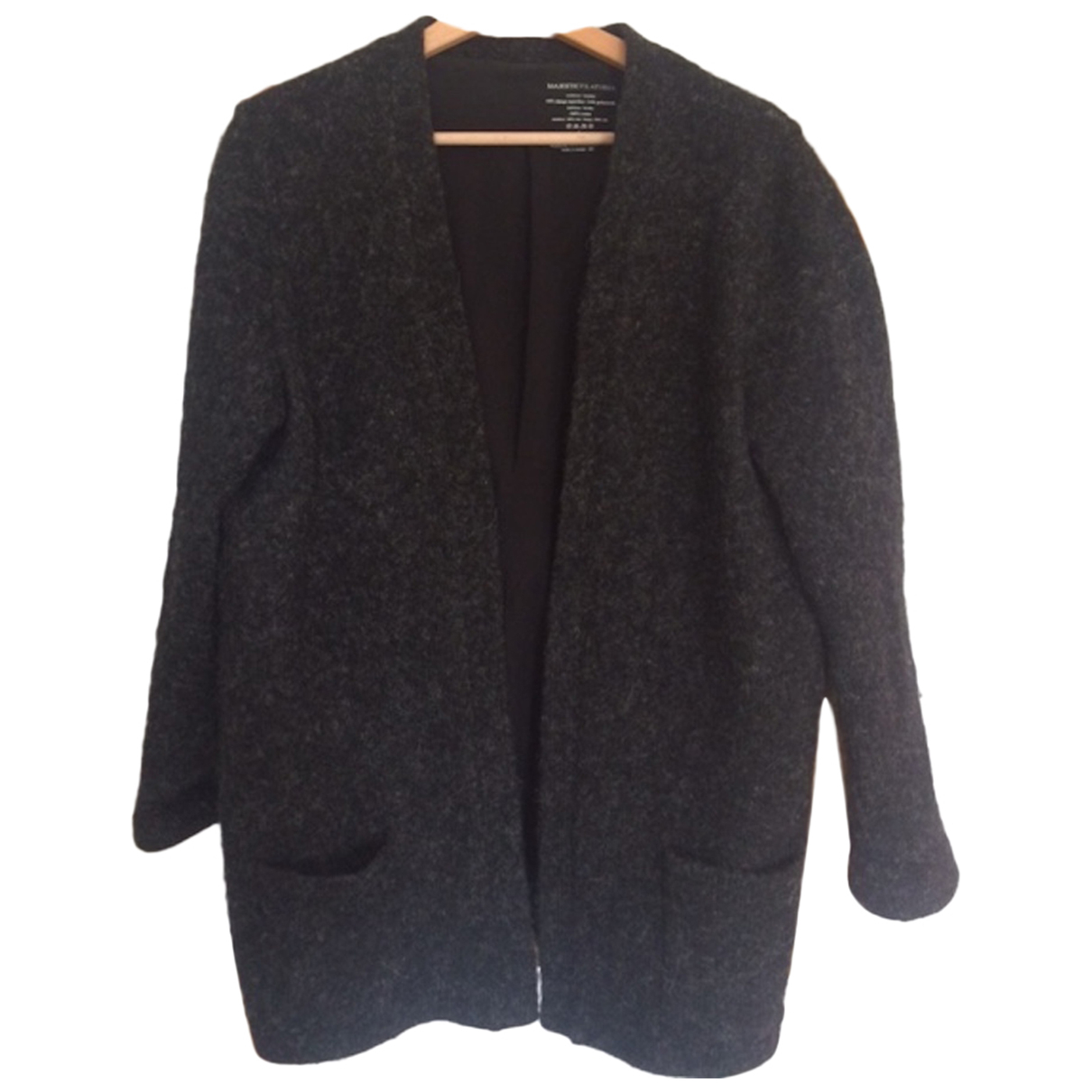 Majestic Filatures N Anthracite Wool jacket for Women 40 FR