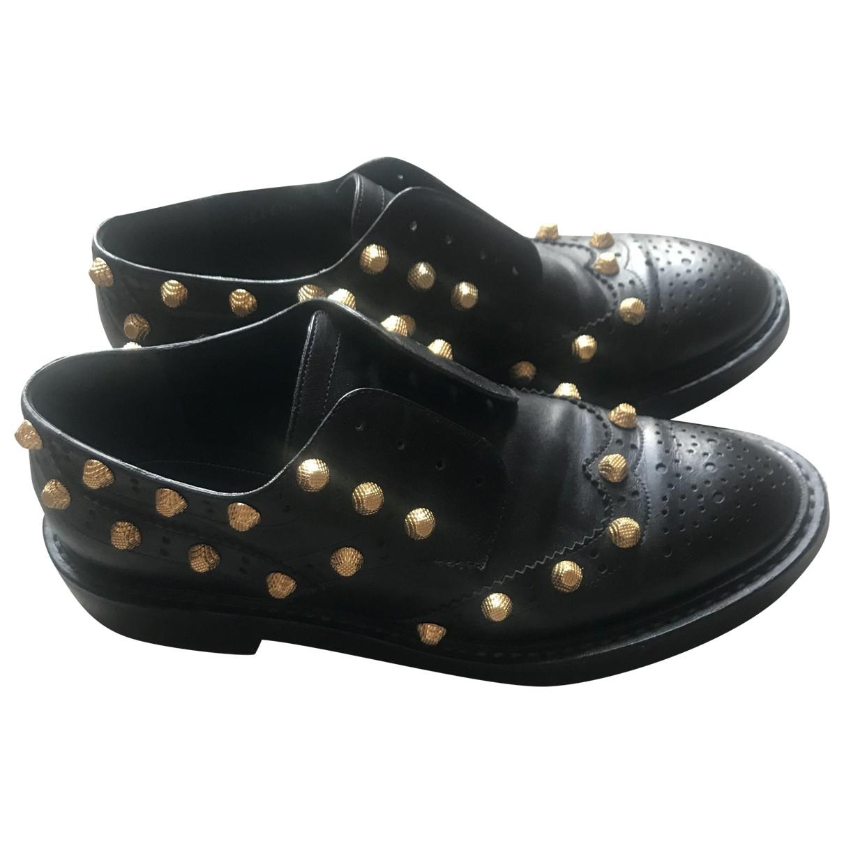 Balenciaga - Derbies   pour femme en cuir - noir