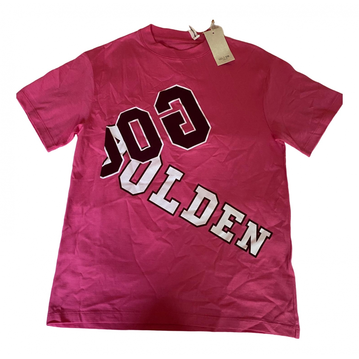 Golden Goose - Top   pour femme en coton - rose