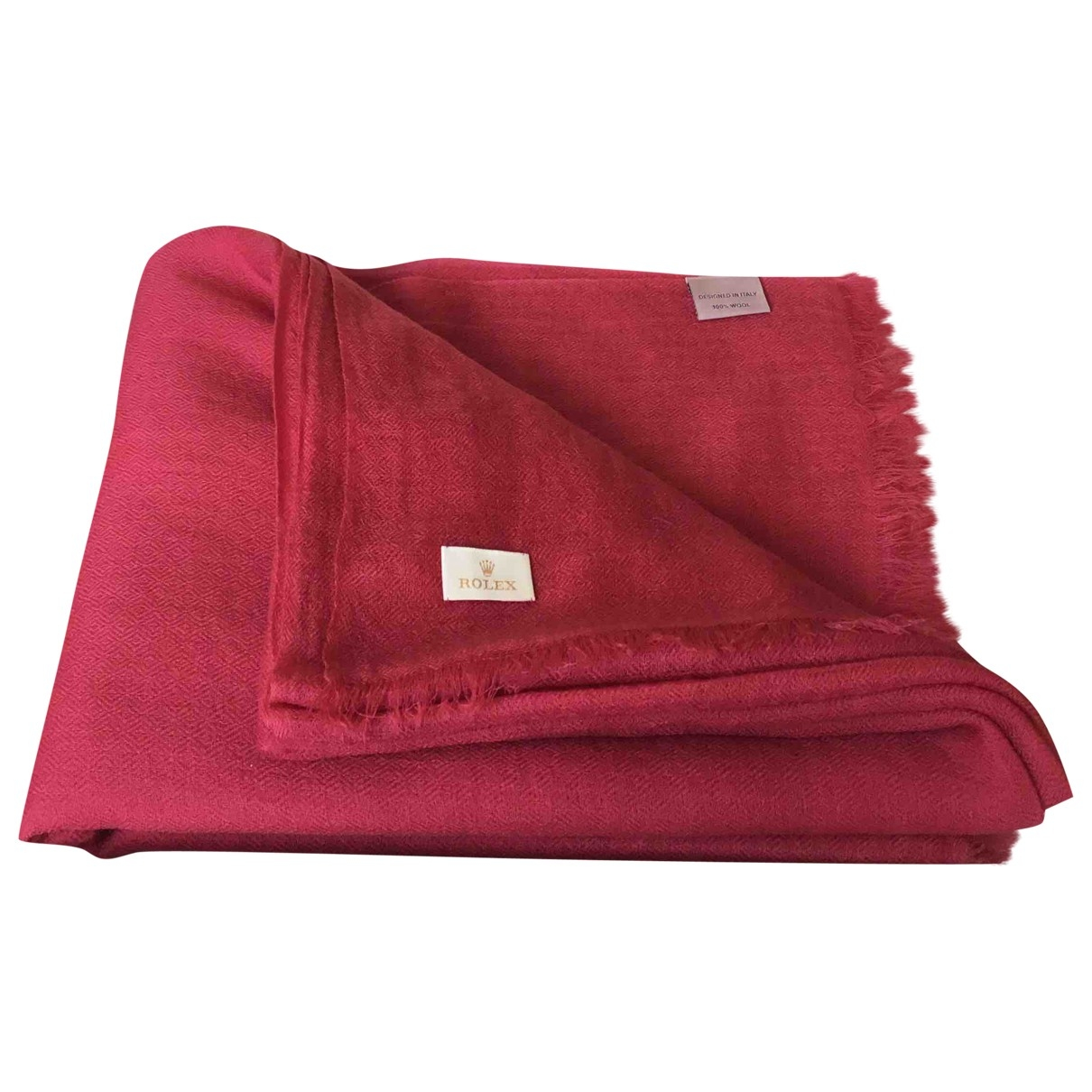 Rolex \N Burgundy Wool scarf & pocket squares for Men \N