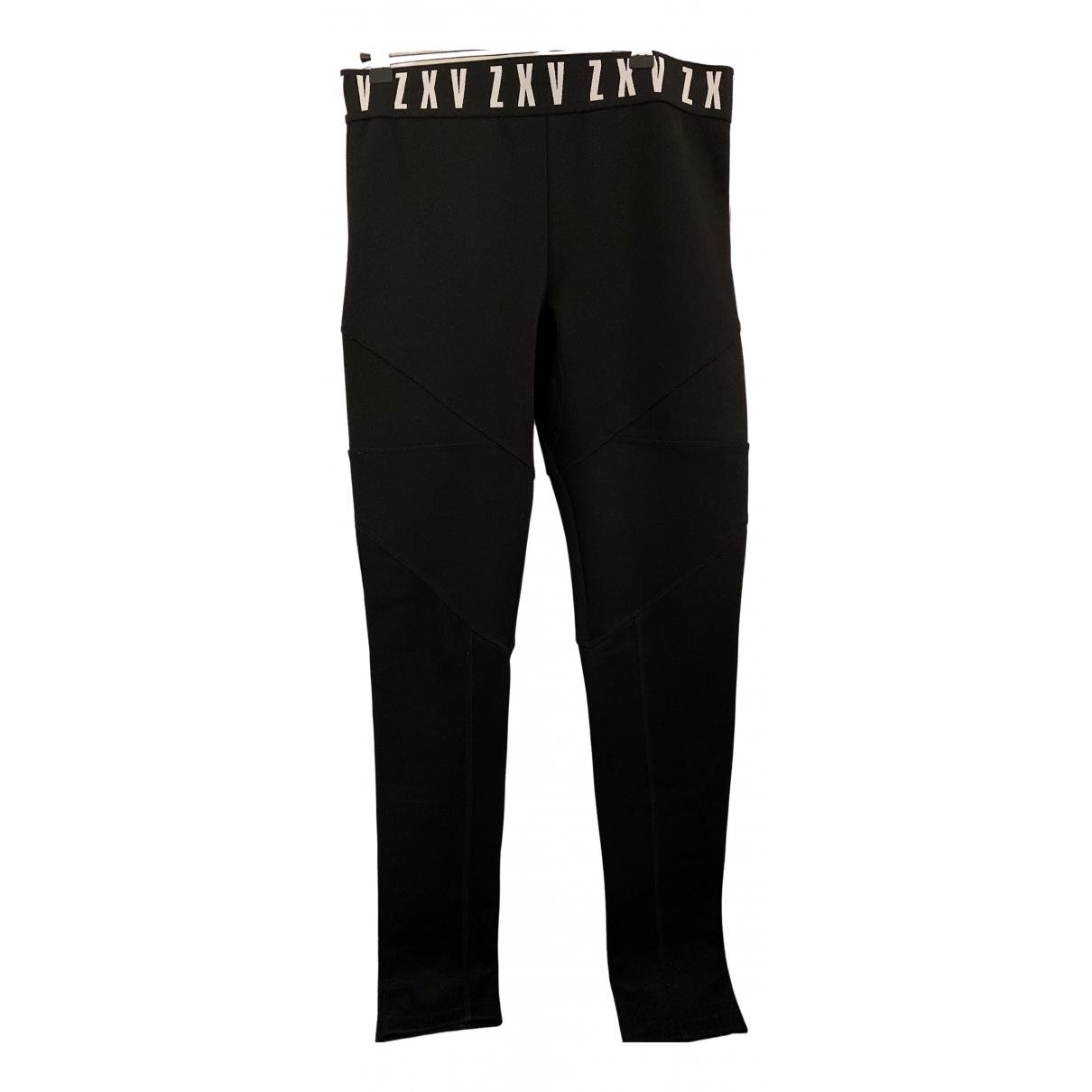 Pantalones en Algodon Negro Versus