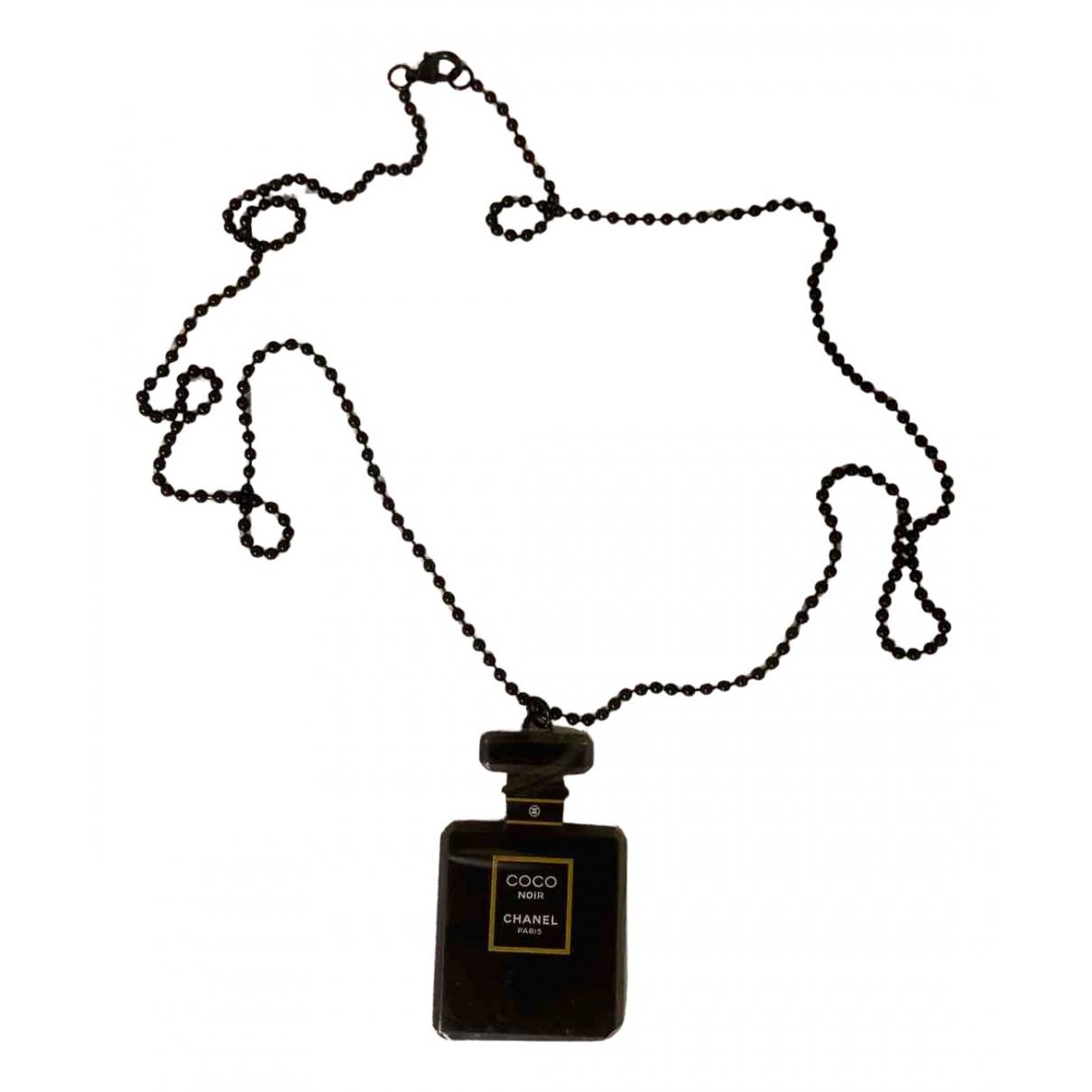 Chanel \N Kette in  Schwarz Metall