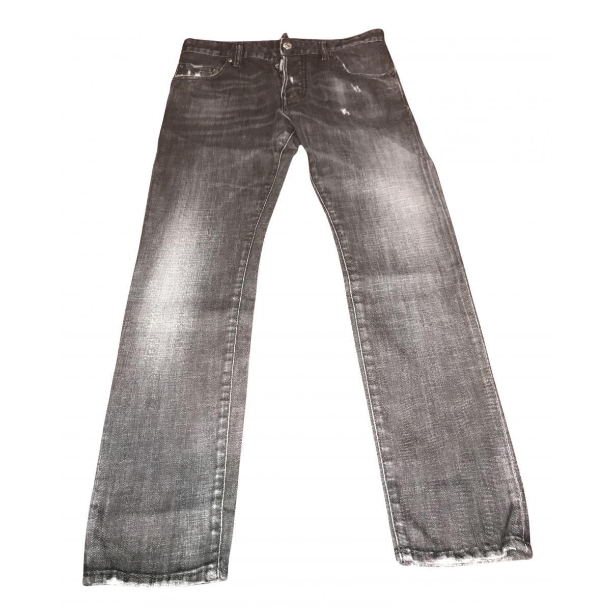 Dsquared2 - Jean   pour homme en coton - gris