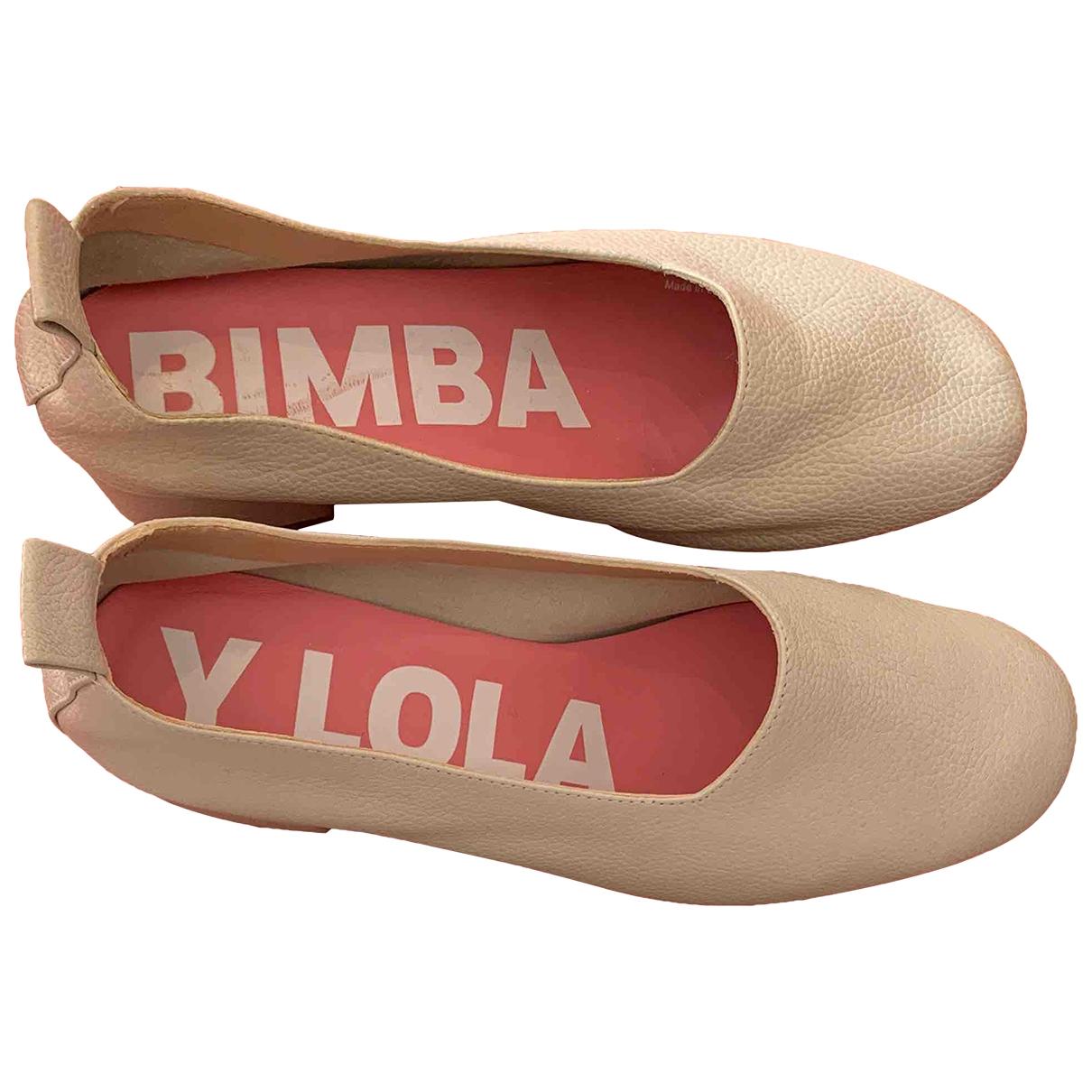 Bimba Y Lola \N Beige Leather Heels for Women 38 EU