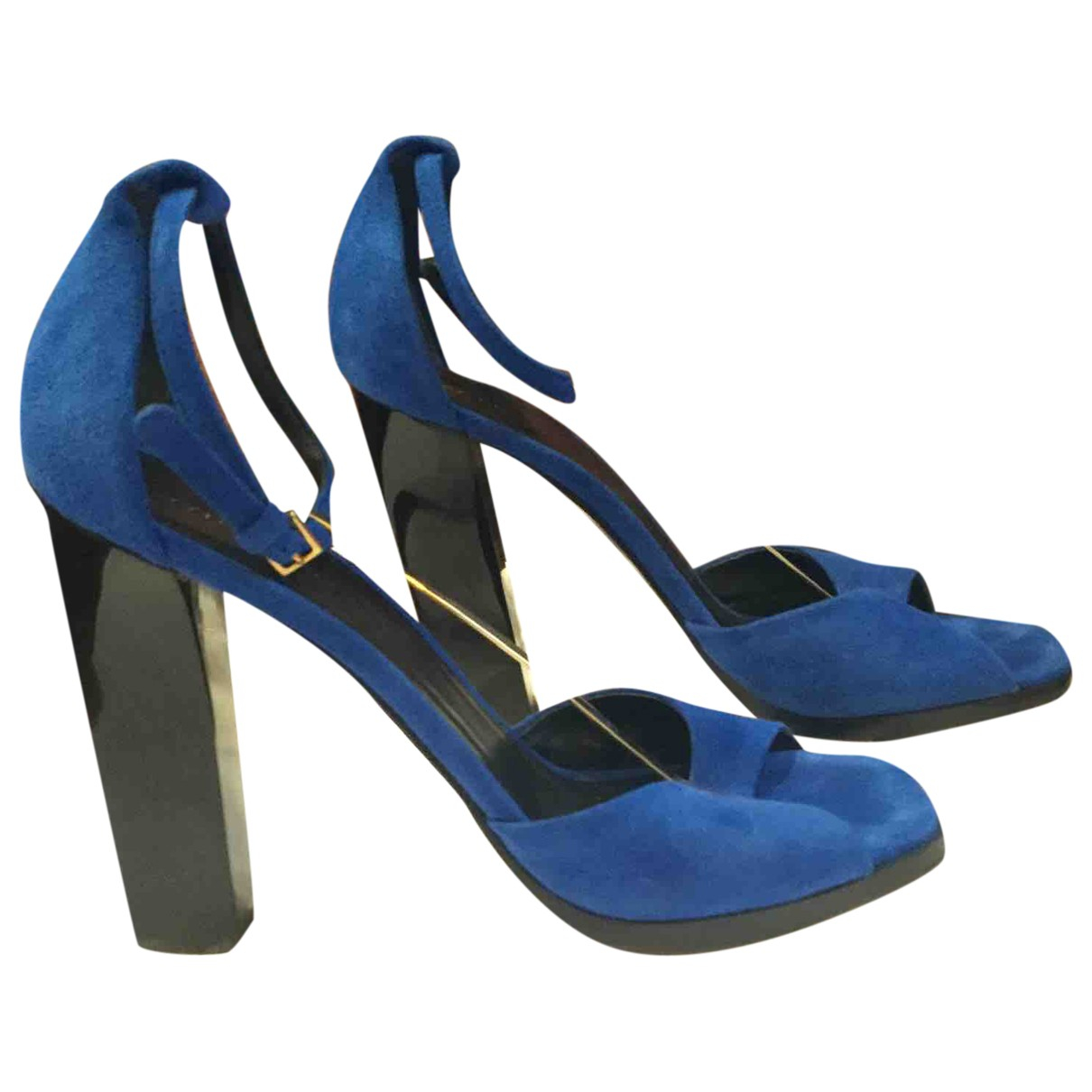 Celine \N Pumps in  Blau Veloursleder
