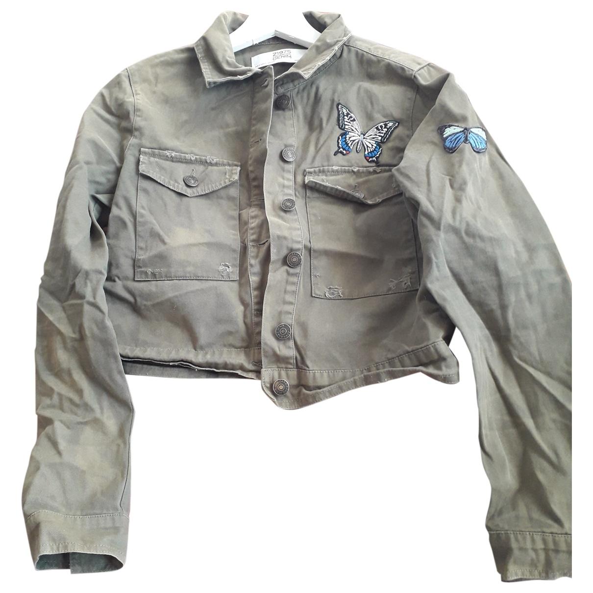 Zara \N Khaki Denim - Jeans jacket for Women S International