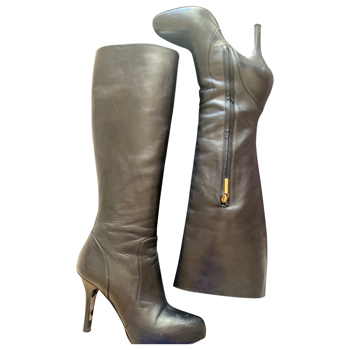 Dolce & Gabbana \N Black Leather Boots for Women 36 IT