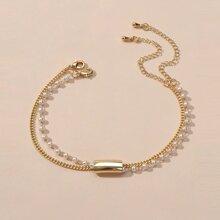 Faux Pearl Layered Bracelet