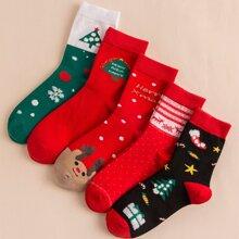 5 Paare Maenner Socken mit Weihnachten Karikatur Grafik