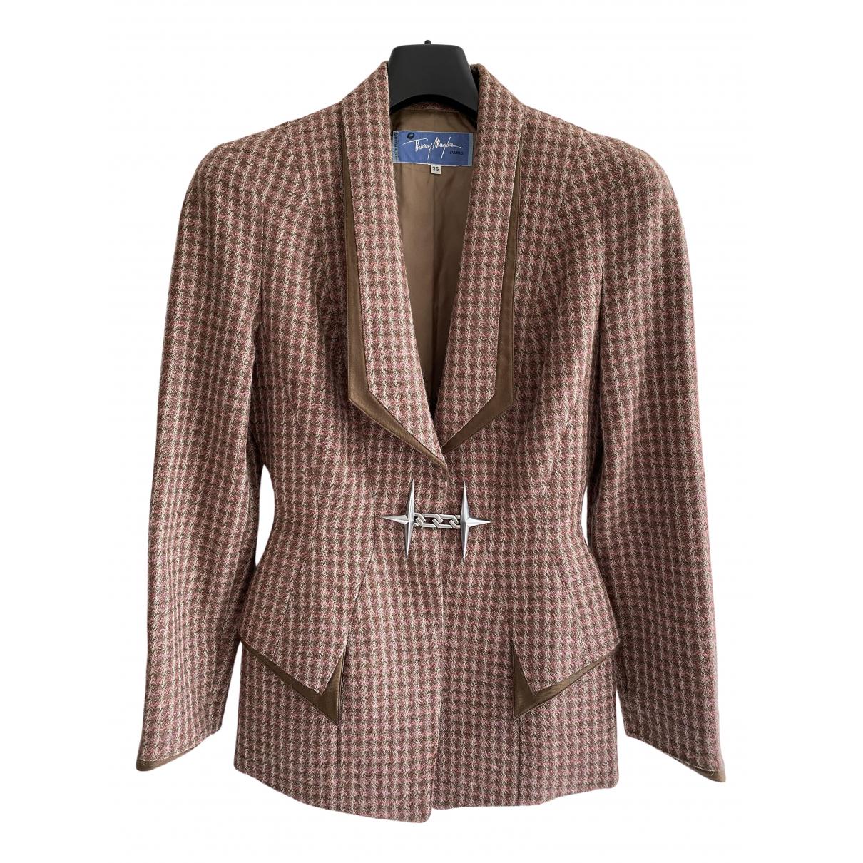 Thierry Mugler - Veste   pour femme en laine - beige