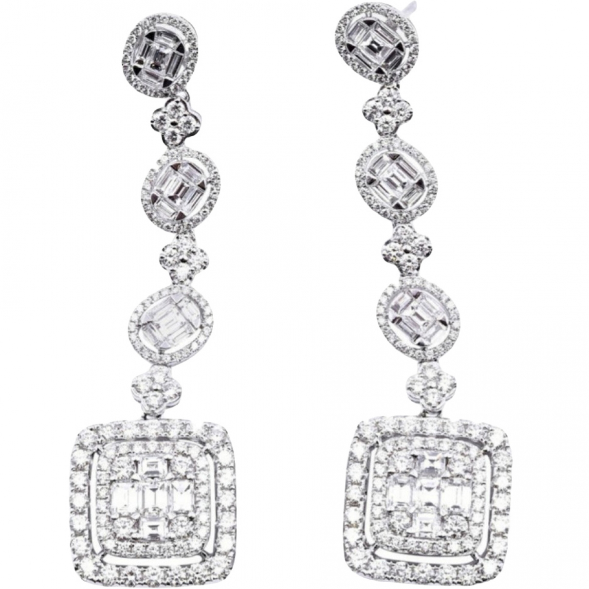 Non Signé / Unsigned \N White White gold Earrings for Women \N