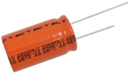 Vishay 40F Supercapacitor EDLC -20 → +50% Tolerance, 220 EDLC 2.7V dc, Through Hole