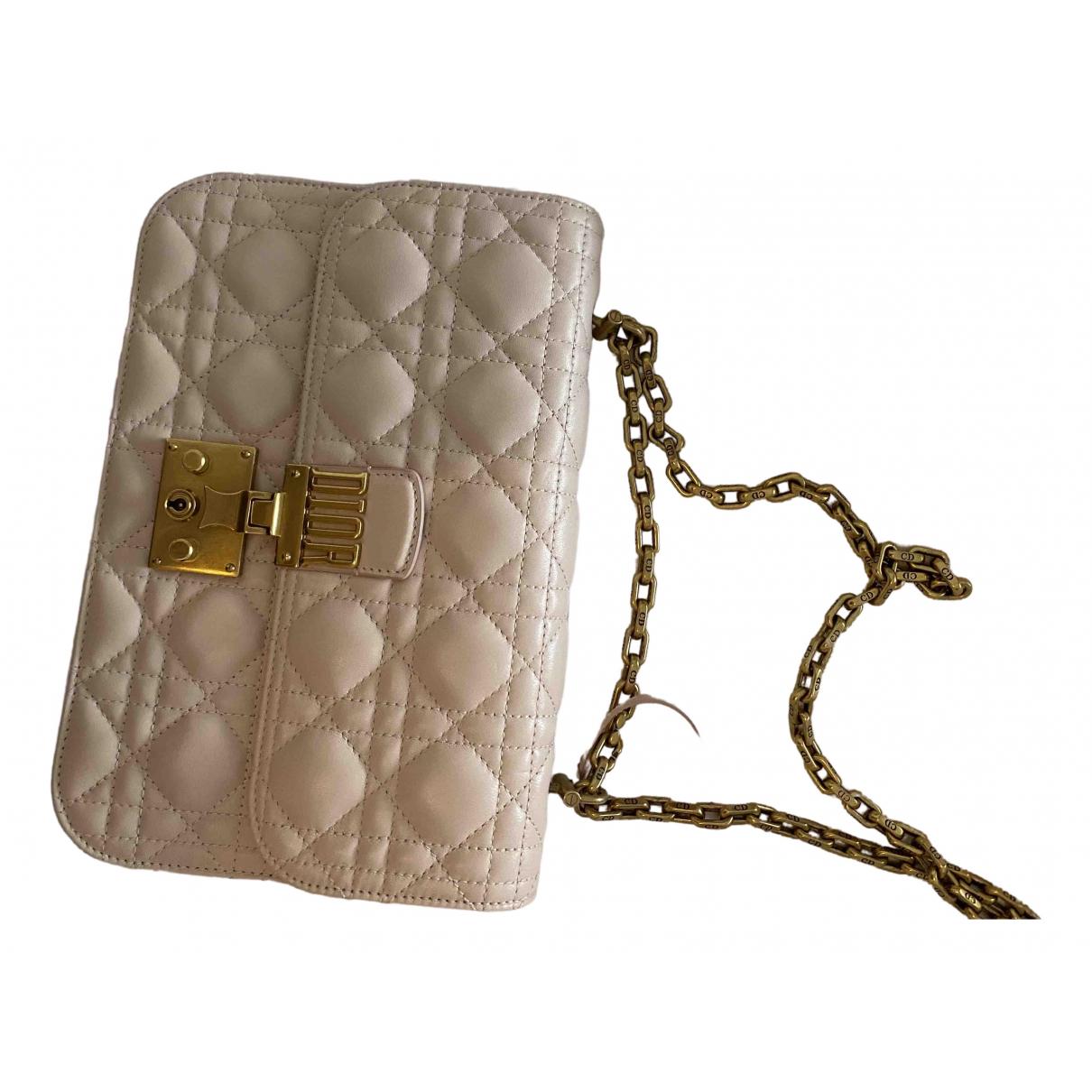 Dior DiorAddict Beige Leather handbag for Women \N