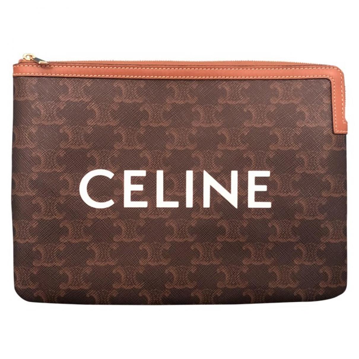 Celine - Pochette   pour femme en toile - marron