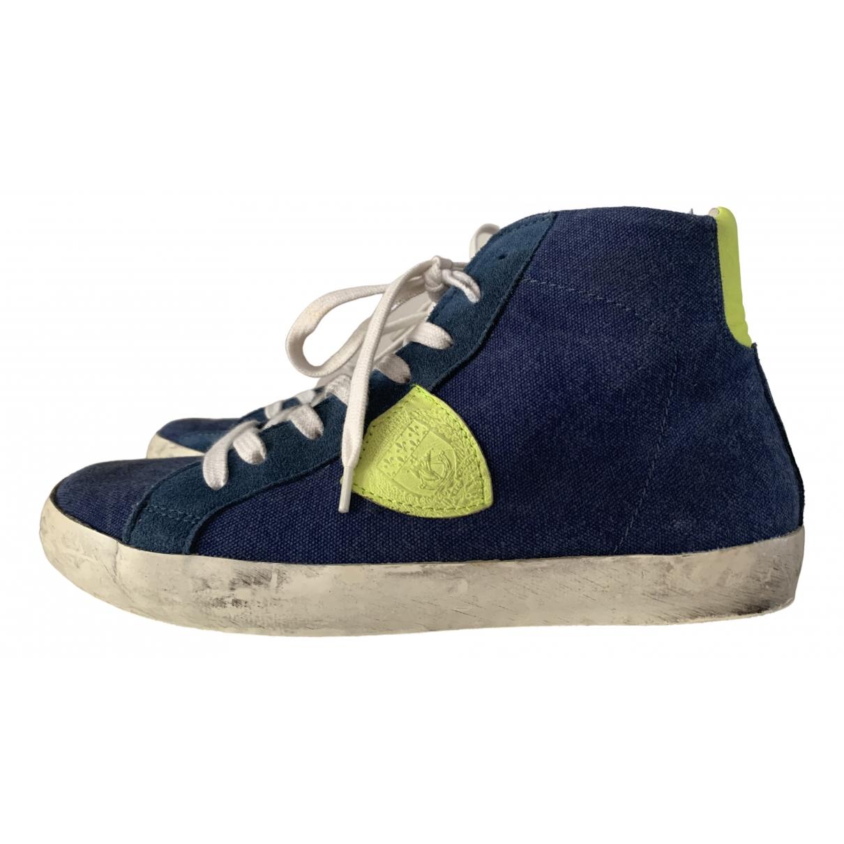 Philippe Model \N Sneakers in  Blau Leinen