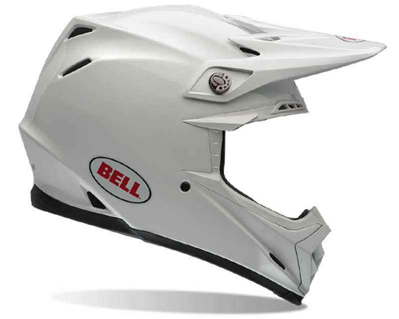 Bell Racing 7028483 Moto-9 Carbon Solid White Helmet 60-61 | XL