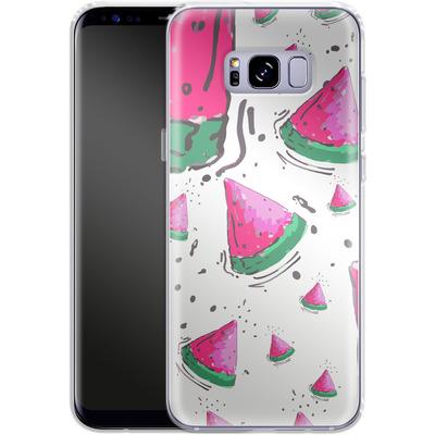 Samsung Galaxy S8 Plus Silikon Handyhuelle - Watermelon Crush von Mukta Lata Barua