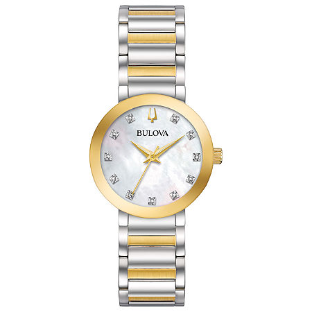 Bulova Futuro Womens Two Tone Stainless Steel Bracelet Watch-98p180, One Size , No Color Family
