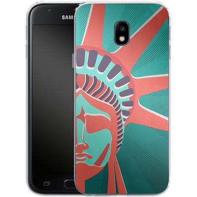 Samsung Galaxy J3 (2017) Silikon Handyhuelle - Statue Of Liberty von Mark Ashkenazi