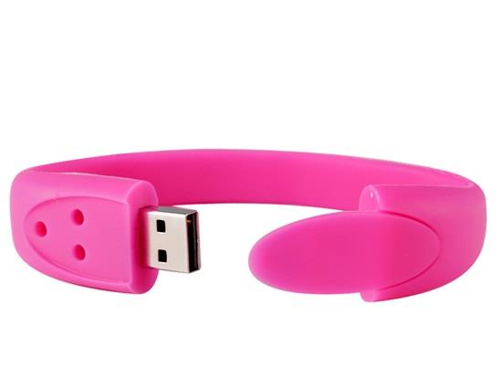 1GB Silicone Bracelet Design USB Flash Drive - Red