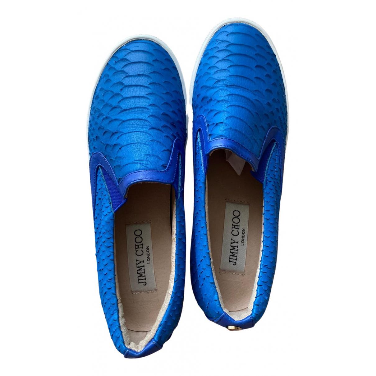 Jimmy Choo \N Mokassins in  Blau Leder