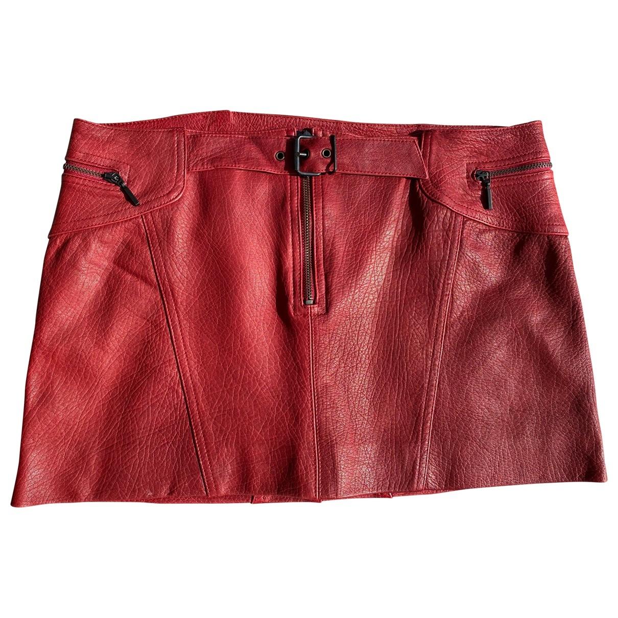 Mini falda de Cuero Plein Sud