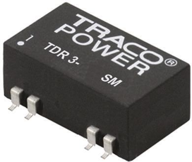 TRACOPOWER TDR 3SM 3W Isolated DC-DC Converter Surface Mount, Voltage in 18 → 36 V dc, Voltage out 15V dc