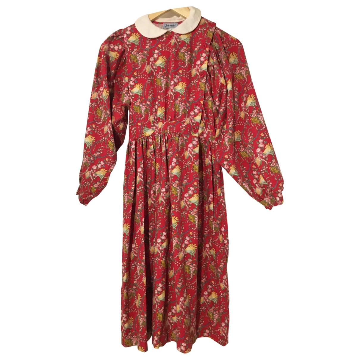 Jacadi \N Kleid in  Rot Baumwolle