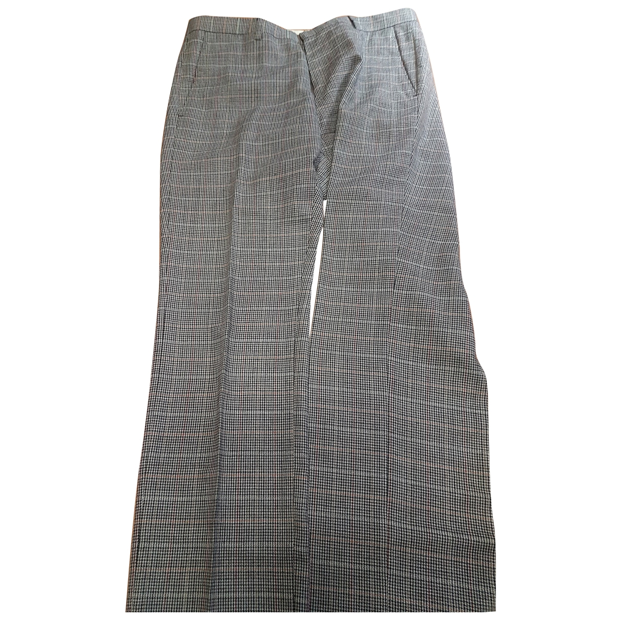 Pantalones en Viscosa Gris Mauro Grifoni