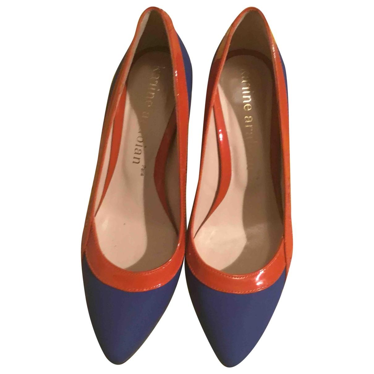 Karine Arabian - Escarpins   pour femme en cuir - bleu