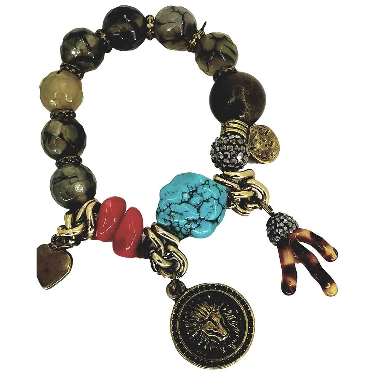 Non Signé / Unsigned Lapis lazuli Multicolour Jade bracelet for Women \N