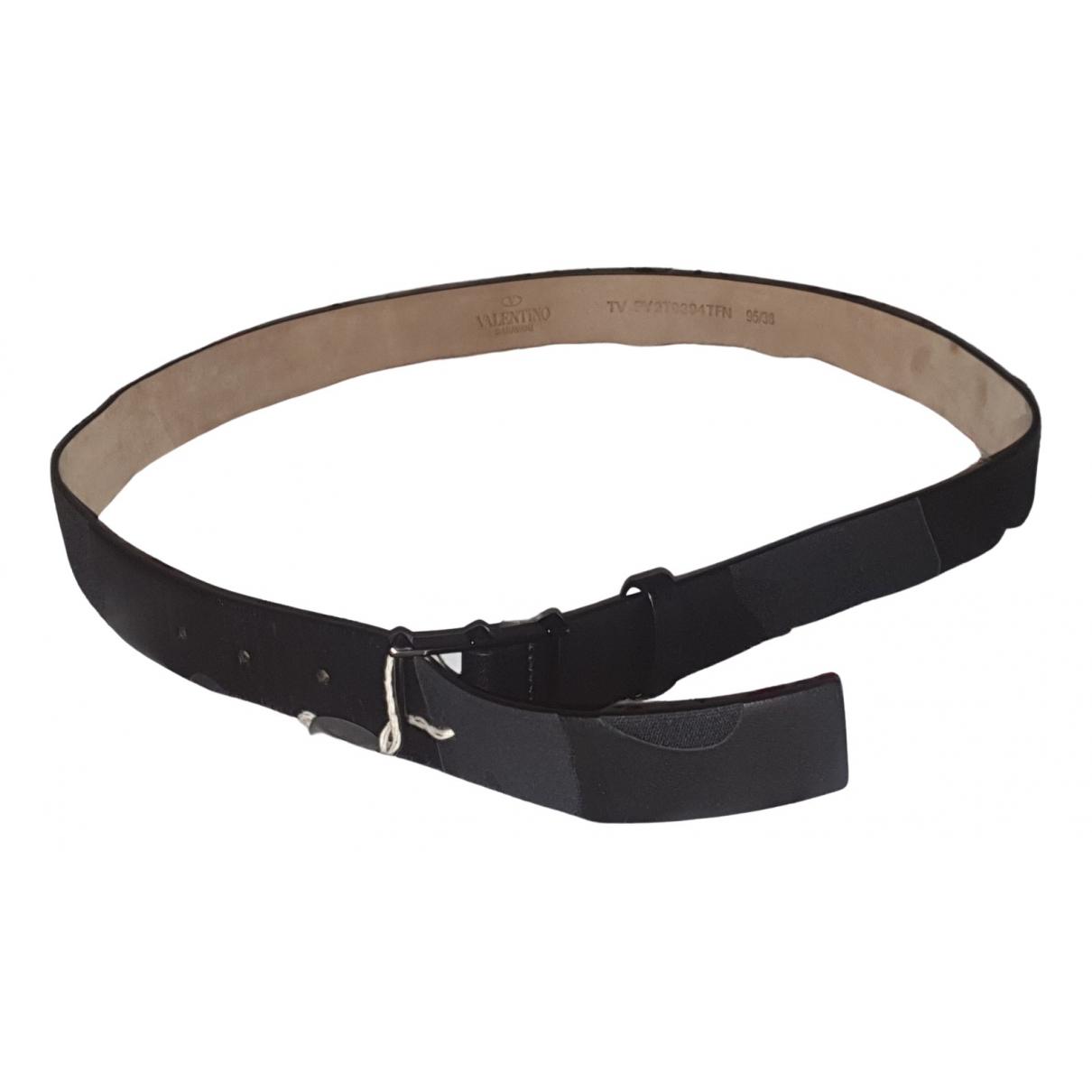 Valentino Garavani \N Black Leather belt for Men 95 cm