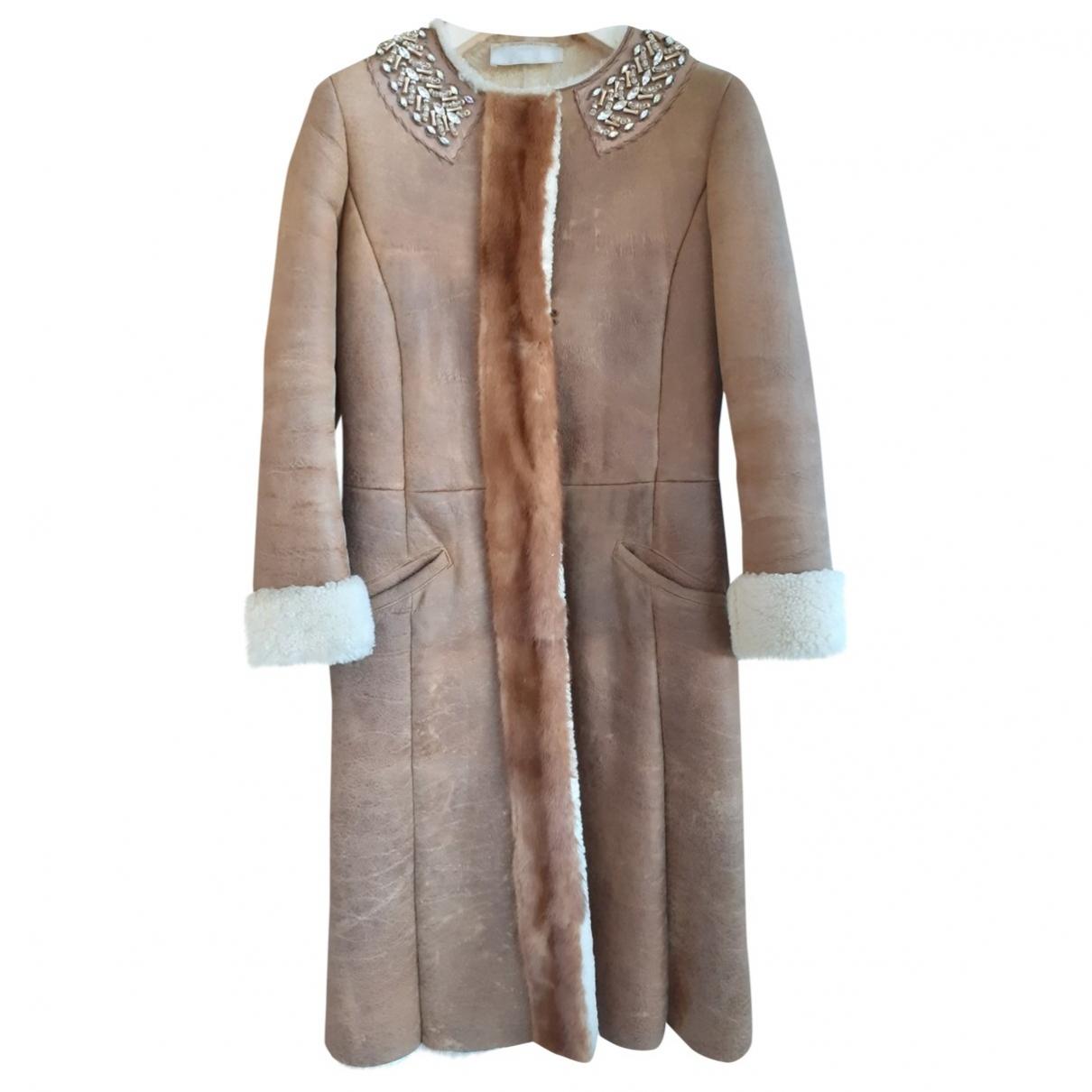Prada \N Beige Shearling coat for Women 40 IT