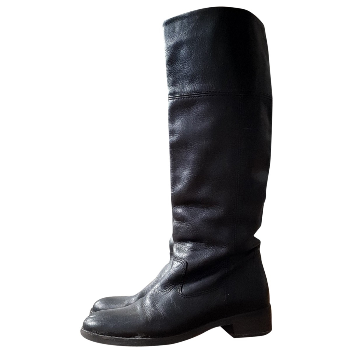 Ted Baker \N Black Leather Boots for Women 6 UK