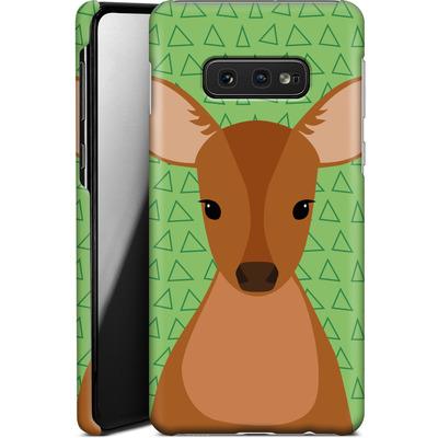 Samsung Galaxy S10e Smartphone Huelle - Deer on Green von caseable Designs