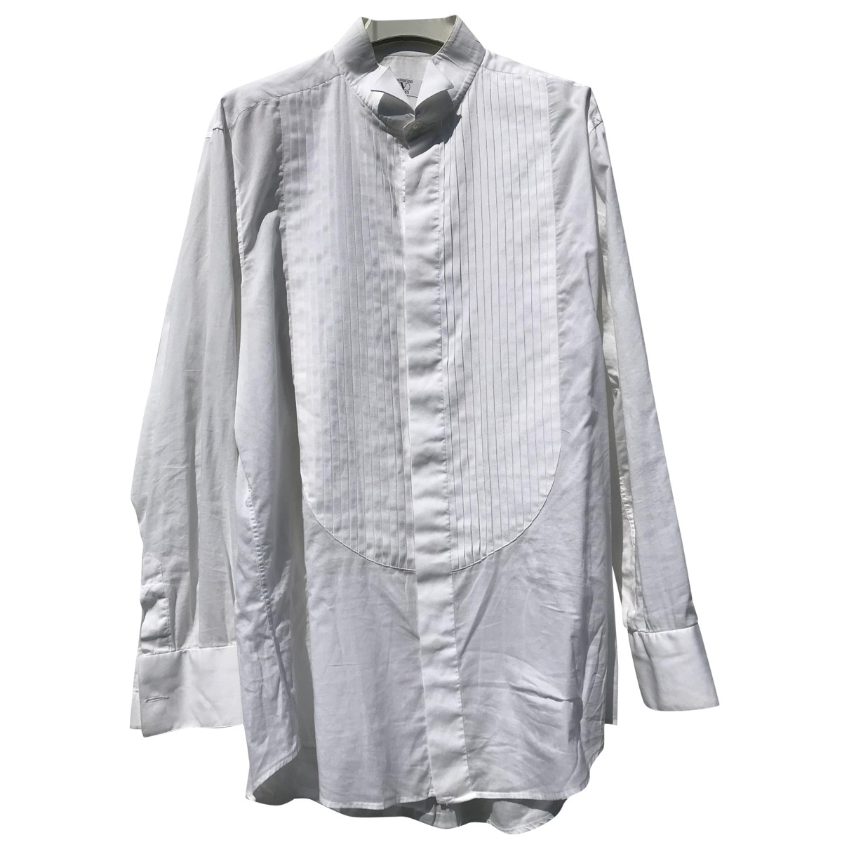 Valentino Garavani \N White Cotton Shirts for Men 40 EU (tour de cou / collar)