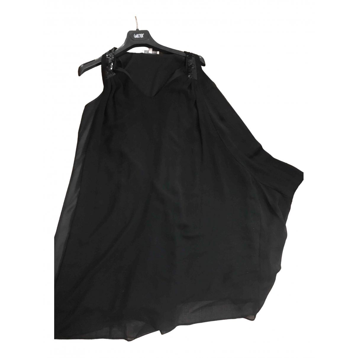Les Petites \N Kleid in  Schwarz Seide
