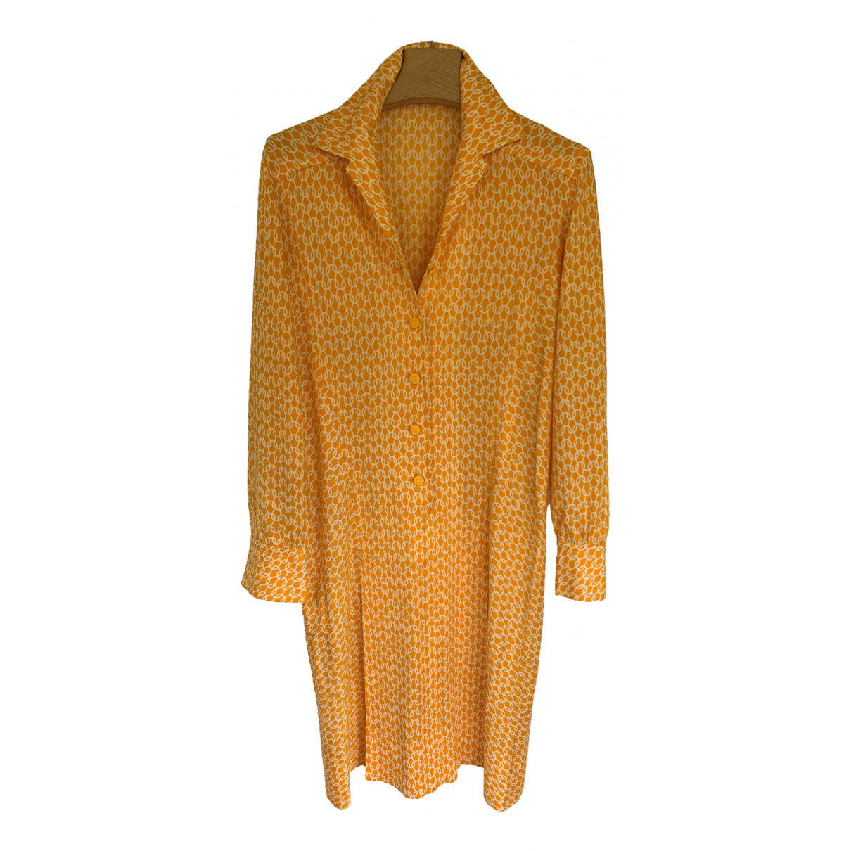 Hermes - Robe   pour femme - jaune