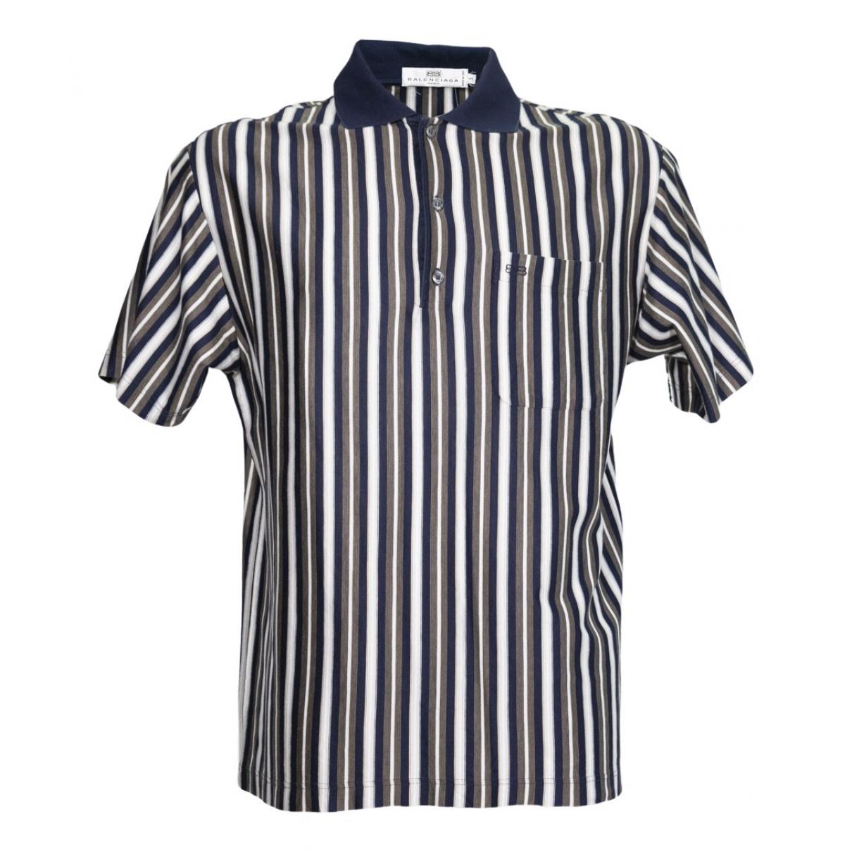 Balenciaga - Polos   pour homme en coton - bleu