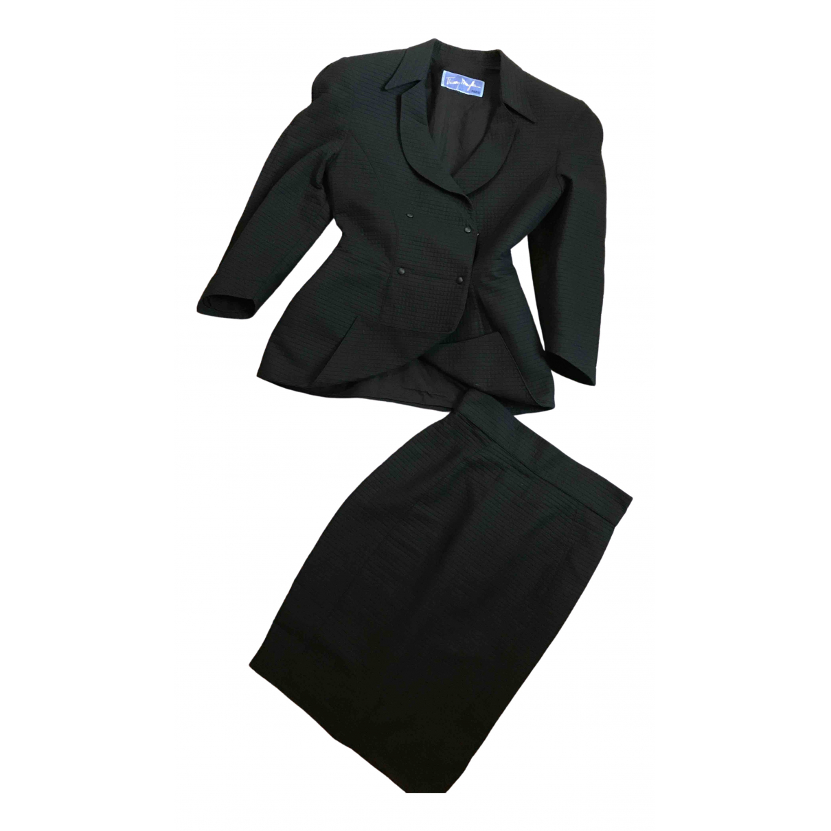 Thierry Mugler \N Black Cotton jacket for Women 38 IT