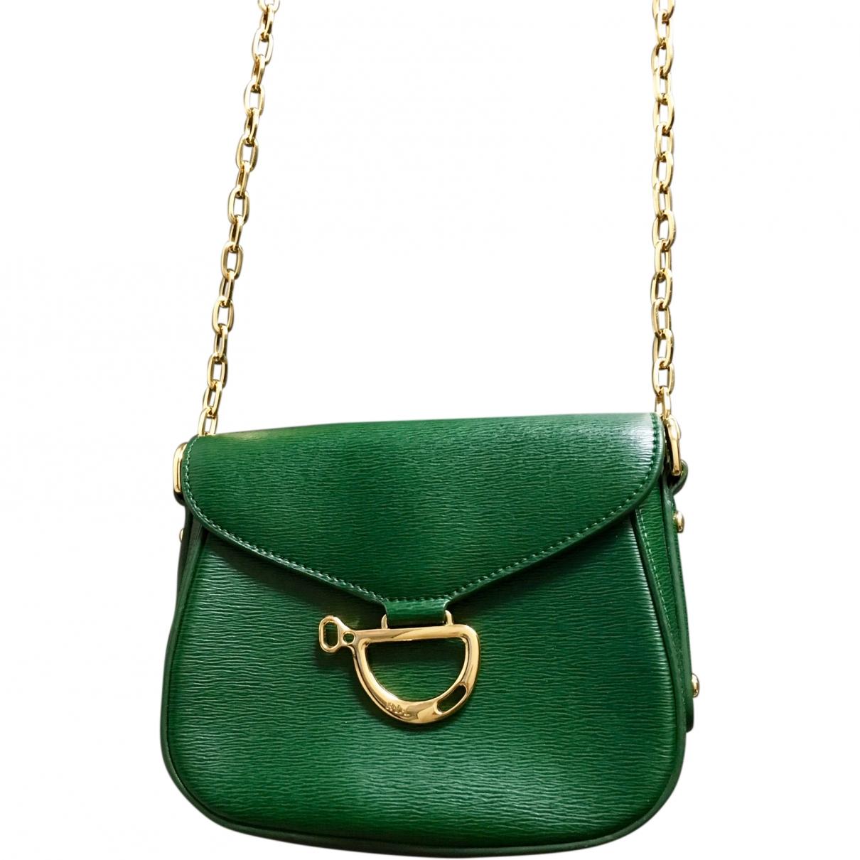Lauren Ralph Lauren \N Green Leather handbag for Women \N
