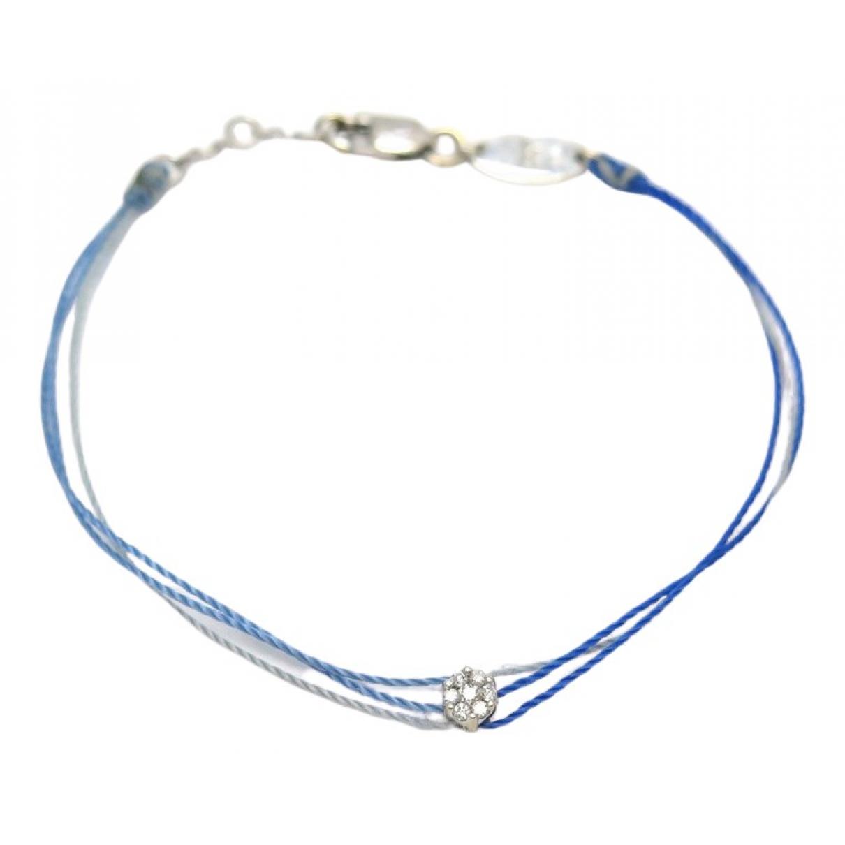 Redline - Bracelet   pour femme en or blanc - bleu