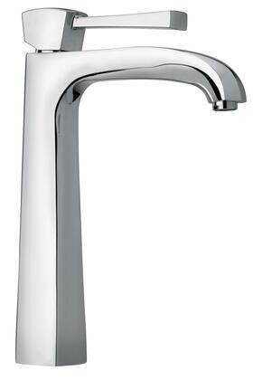 11205-85 Single Lever Handle Tall Vessel Sink Faucet With Arched Spout with Brushed Chrome