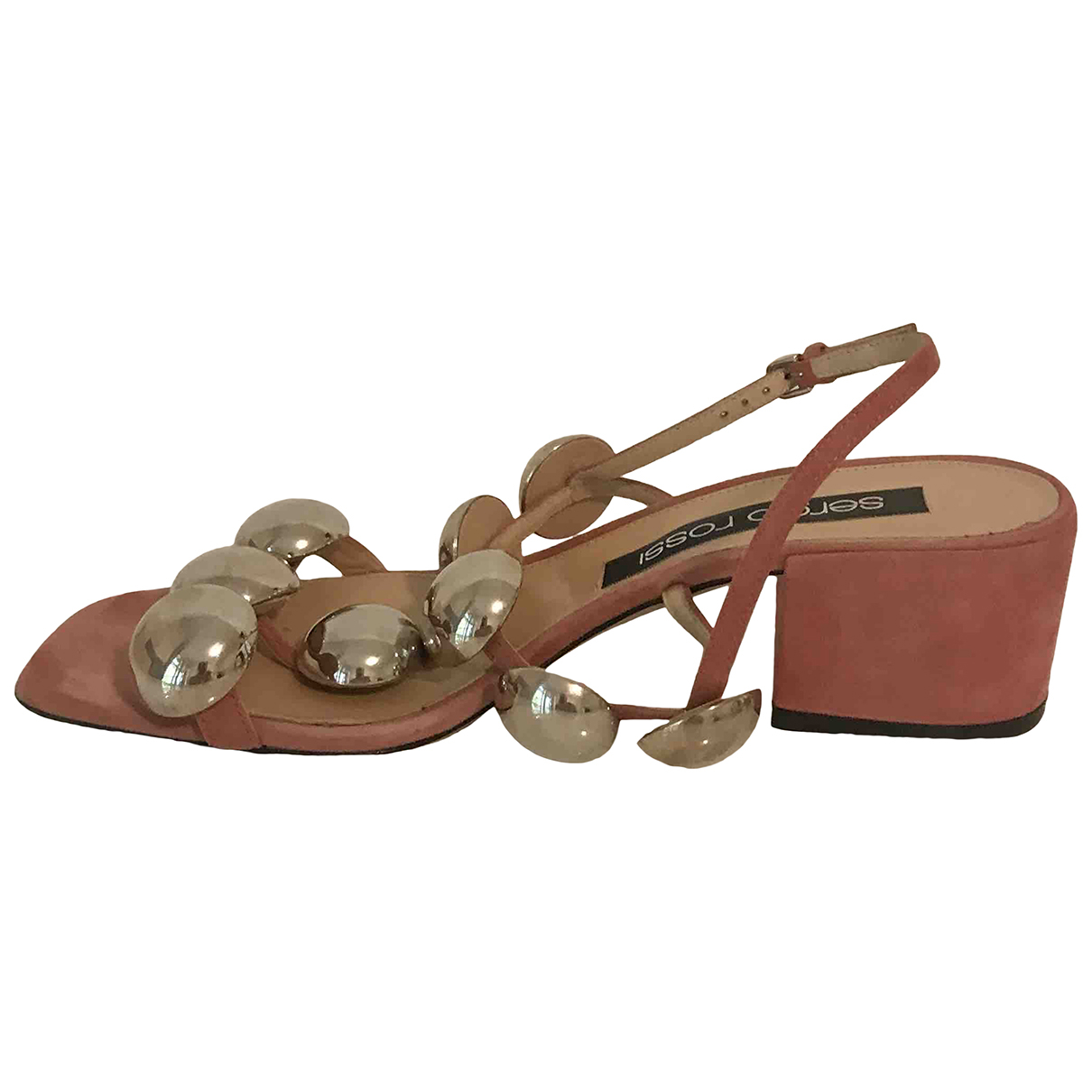 Sergio Rossi N Pink Suede Sandals for Women 39.5 EU